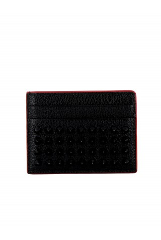 CHRISTIAN LOUBOUTIN 1185049 CM53 WOMEN'S BLACK LEATHER WALLET