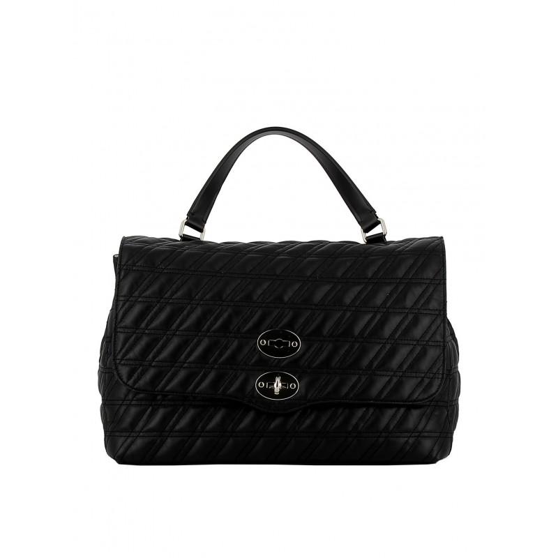 ZANELLATO 6131-ZZ-02 WOMEN'S BLACK LEATHER HANDBAG