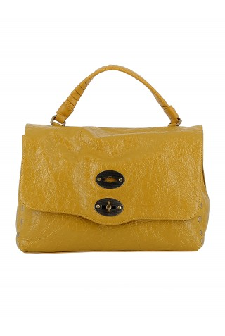 ZANELLATO 6120-BM-C9 WOMEN'S YELLOW LEATHER HANDBAG