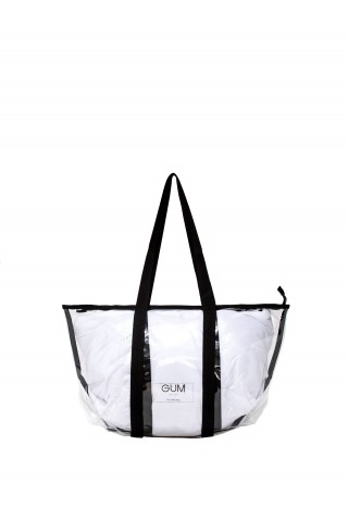 GUM BS SMALL TRNSP+NYL WOMEN'S WHITE TOTE