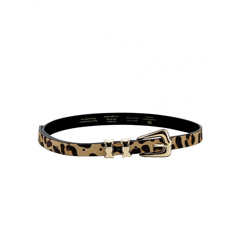 B-LOW THE BELT BT7809 000HR WOMEN'S LEOPARD BELT