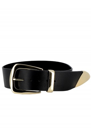B-LOW THE BELT BW296 000LE WOMEN'S BLACK/GOLD BELT