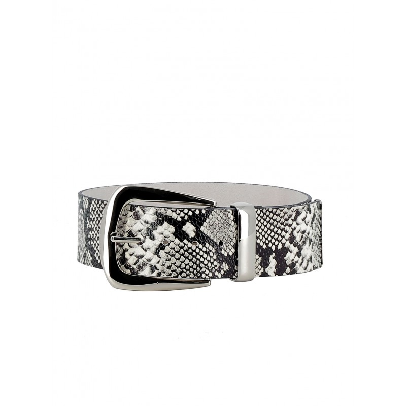 B-LOW THE BELT BW296 700LE WOMEN'S WHITE/SILVER BELT