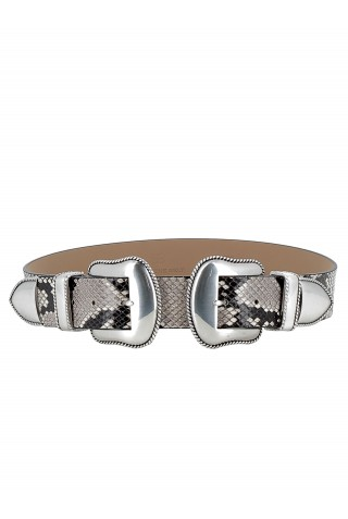 B-LOW THE BELT BW362 700LE WOMEN'S WHITE/SILVER BELT