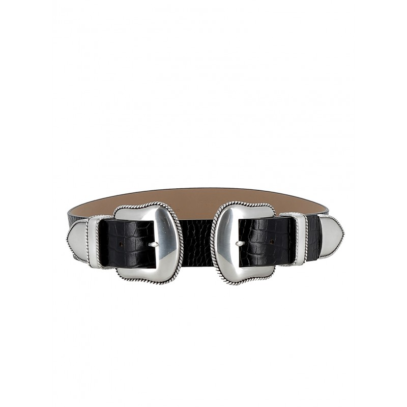 B-LOW THE BELT BW362 710LE WOMEN'S BLACK/SILVER BELT