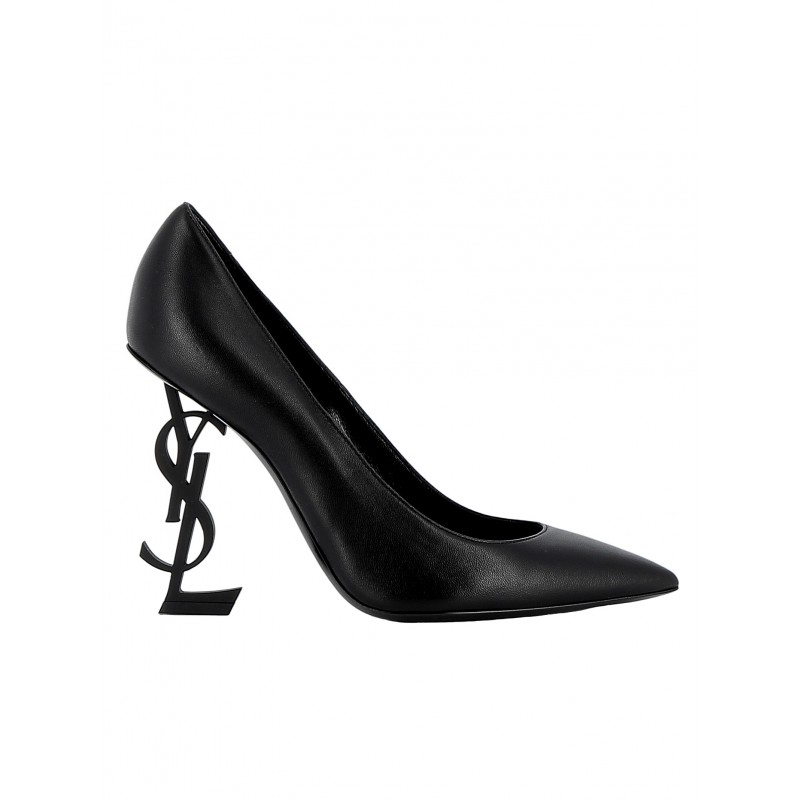 SAINT LAURENT 472011 0NOUU 1000 WOMEN'S BLACK LEATHER PUMPS
