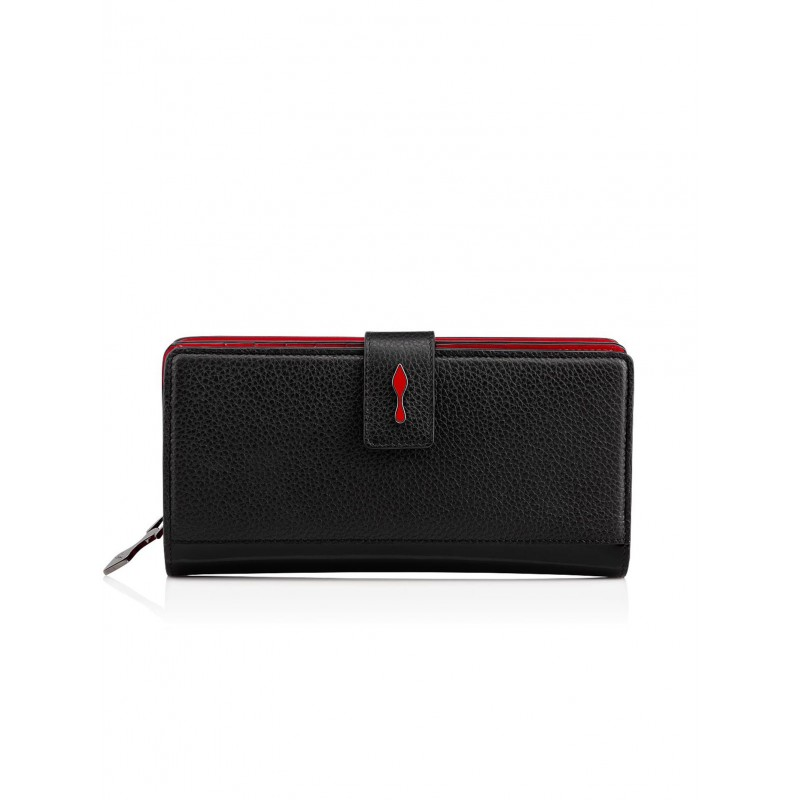 CHRISTIAN LOUBOUTIN BLACK LEATHER PALOMA WALLET