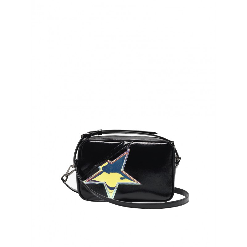 GOLDEN GOOSE G36WA881.B4 WOMEN'S BLACK LEATHER STAR BAG