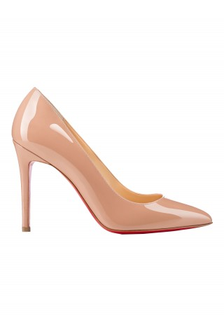 CHRISTIAN LOUBOUTIN 3080680 PK20 WOMEN'S NUDE PATENT LEATHER PUMPS