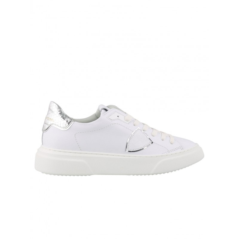 PHILIPPE MODEL BYLD VY04 WHITE LEATHER TEMPLE SNEAKERS