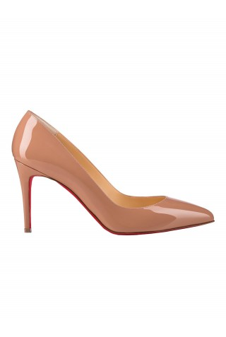 CHRISTIAN LOUBOUTIN 1100382 PK20 WOMEN'S NUDE PATENT LEATHER PUMPS