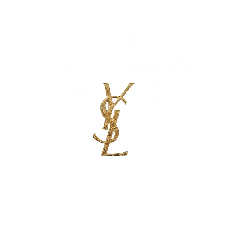 SAINT LAURENT 470371 Y1500 8030 OPYUM YSL CROCODILE BROOCH IN GOLD BRASS
