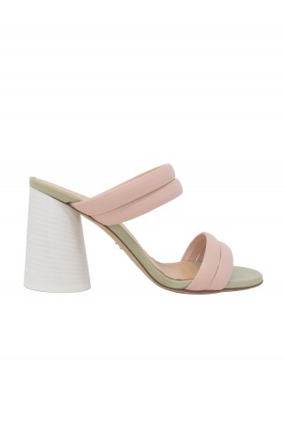 HALMANERA EVA07 LIGHT PINK LEATHER SANDALS