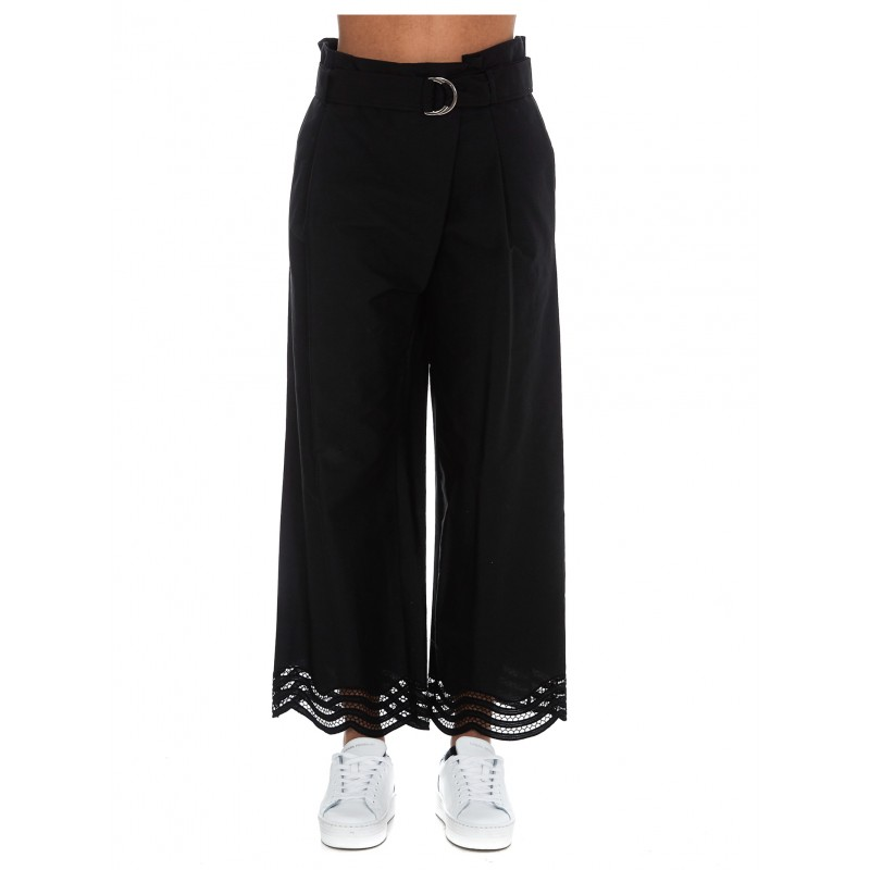 PAROSH D230439 013 COJOUR BLACK PANTS