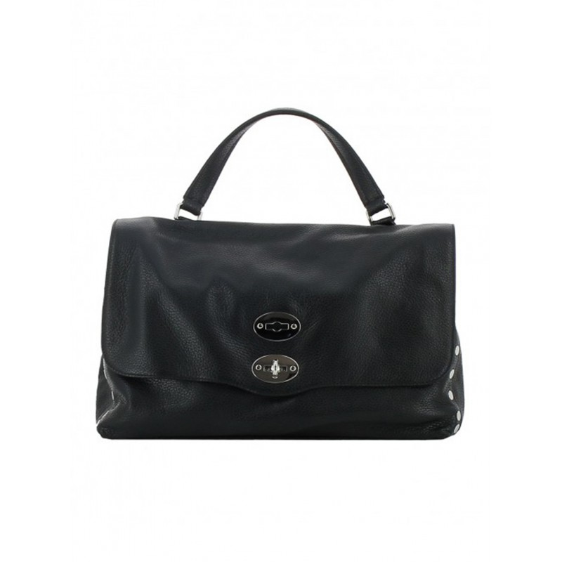 ZANELLATO 6131-18-02 WOMEN'S BLACK LEATHER HANDBAG