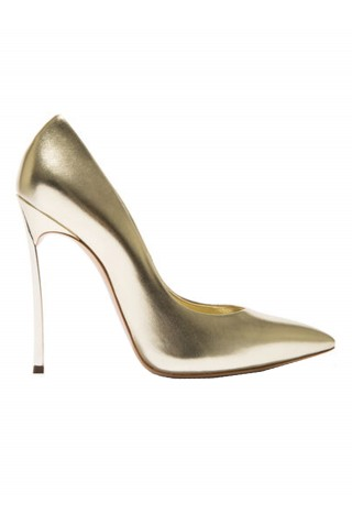 CASADEI 1F161D100MVISIO1101 GOLD LEATHER BLADE PUMPS