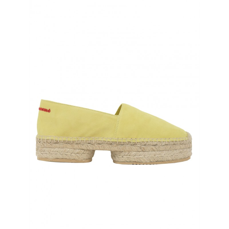 PALOMA BARCELO YELLOW SUEDE DIOT PREMIUM ESPADRILLES