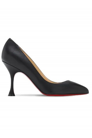 CHRISTIAN LOUBOUTIN 3200748 BK01 BLACK LEATHER O PIGALLE PUMPS