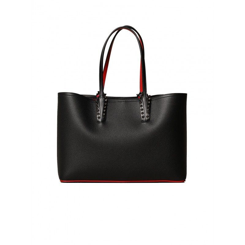 CHRISTIAN LOUBOUTIN 3205219 CM53 BLACK LEATHER CABATA SMALL BAG