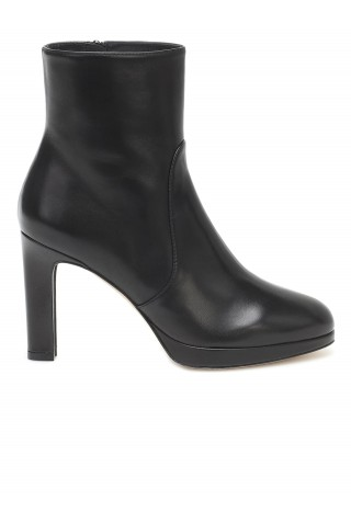 STUART WEITZMAN 5051 BLACK LEATHER ALANI ANKLE BOOTS
