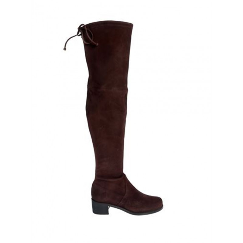 STUART WEITZMAN 55721 WAL BROWN SUEDE OVER THE KNEE MIDLAND BOOTS
