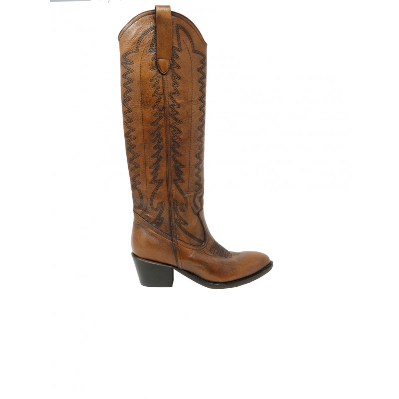 ÂME BOOTS REBECCA H.50 BROWN LEATHER BOOTS