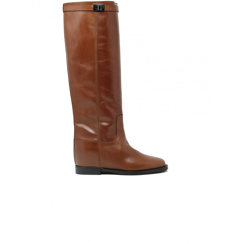 VIA ROMA 15 3428 BROWN LEATHER SAINT BARTH BOOTS