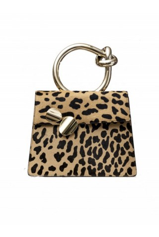 BENEDETTA BRUZZICHES 4349 WOMEN'S LINCE ANIMALIER LEATHER TOTE
