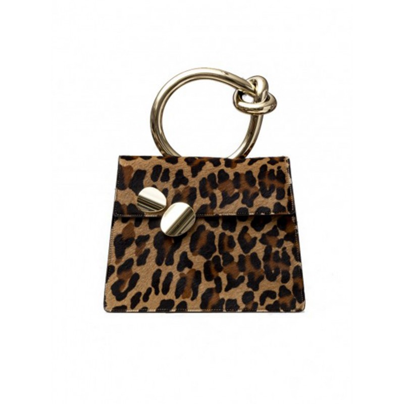 BENEDETTA BRUZZICHES 4351 WOMEN'S LEOPARD ANIMALIER LEATHER TOTE
