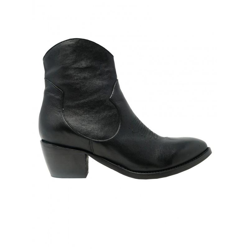 ÂME BOOTS ROCK H50 BLACK LEATHER TEXAN BOOTS