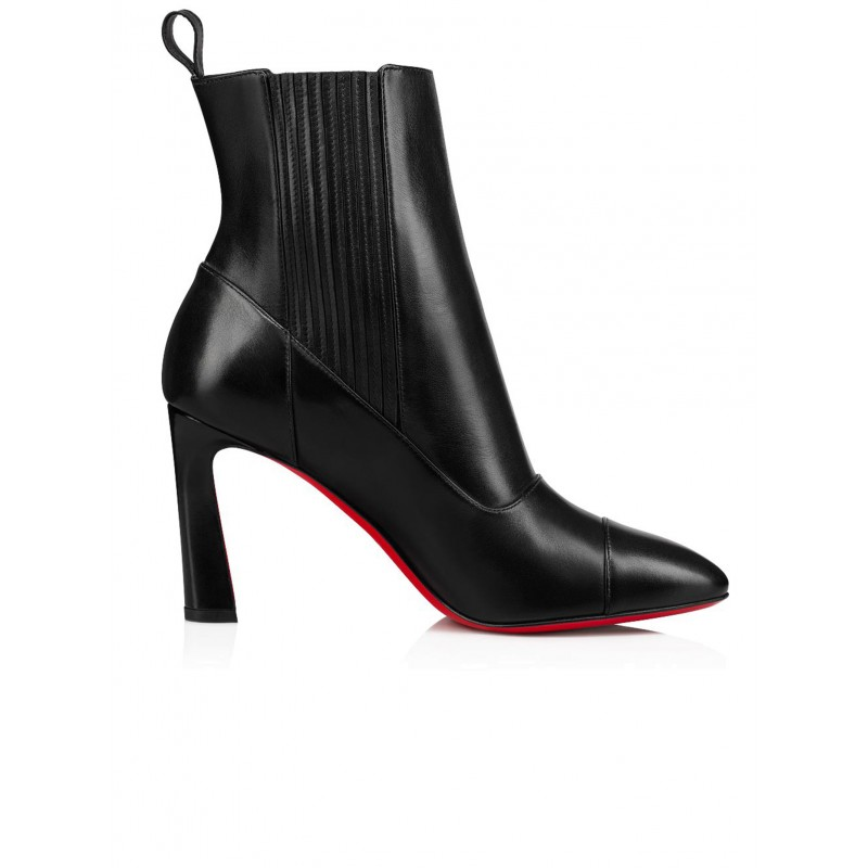 CHRISTIAN LOUBOUTIN 1210492 BK01 BLACK LEATHER ME IN THE 90S ANKLE BOOTS