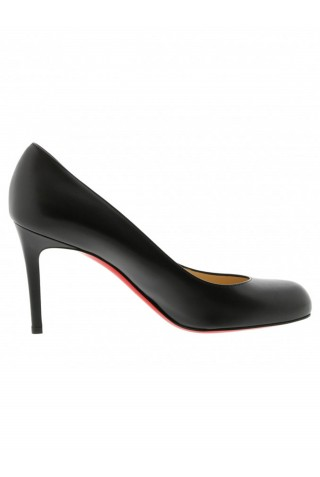 CHRISTIAN LOUBOUTIN 3160586 BK01 BLACK LEATHER SIMPLE PUMPS