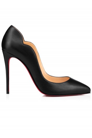 CHRISTIAN LOUBOUTIN 3200380 BK01 BLACK LEATHER HOT CHICK PUMPS