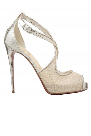 CHRISTIAN LOUBOUTIN 1210029 PK1A MARIACAR 120 PUMPS IN NUDE LEATHER