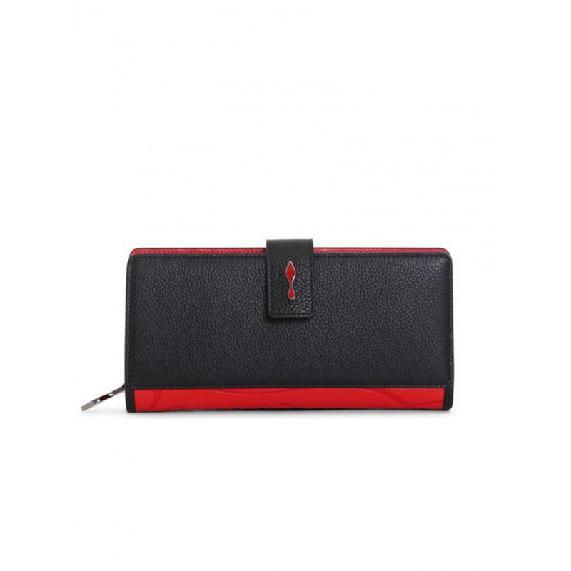 CHRISTIAN LOUBOUTIN 3195086 H358 BLACK LEATHER PALOMA WALLET