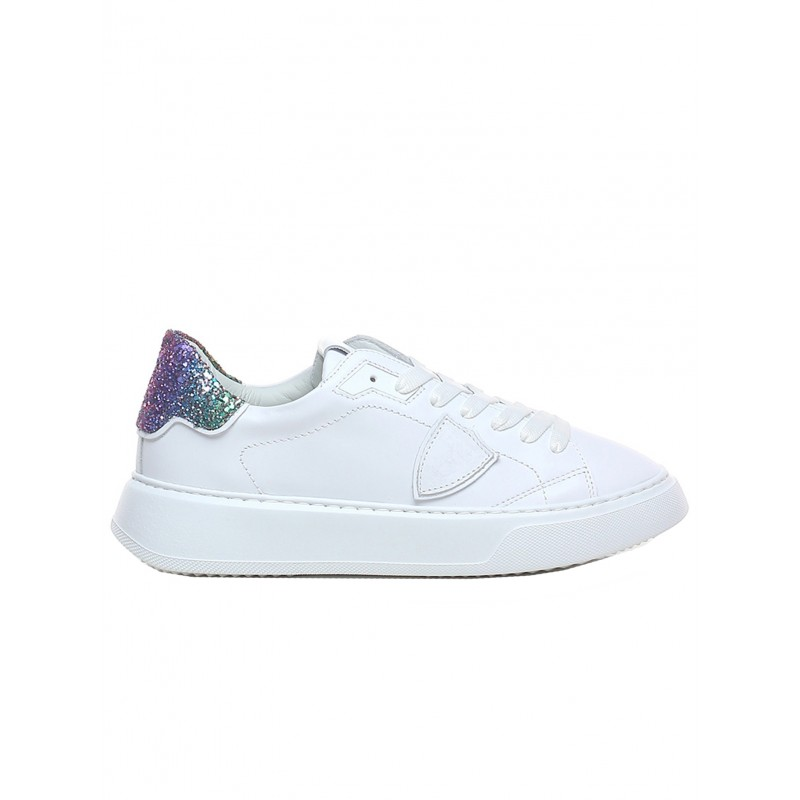 PHILIPPE MODEL BTLD VG01 TEMPLE WHITE/MULTI LEATHER SNEAKERS