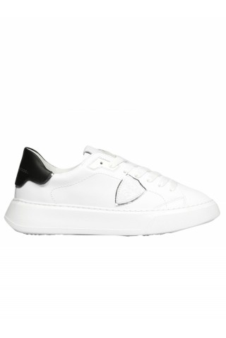 PHILIPPE MODEL BTLD V010 WHITE LEATHER TEMPLE SNEAKERS