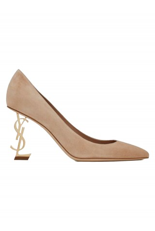 SAINT LAURENT 484160 OLIJJ 2736 POWDER SUEDE OPYUM PUMPS