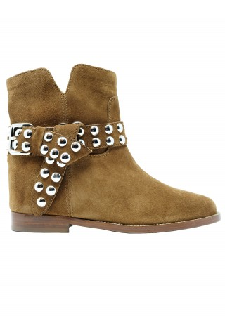 VIA ROMA 15 3546/2 TAN SUEDE ANKLE BOOTS