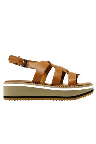 ROBERT CLERGERIE FILOE TAN LEATHER SANDALS
