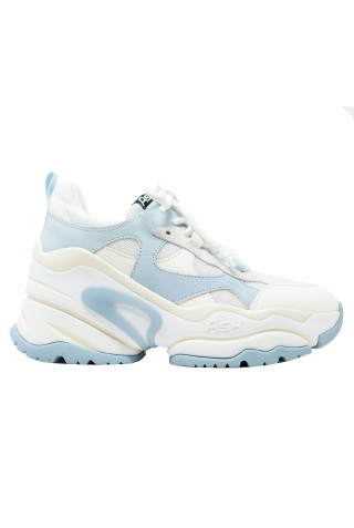 ASH SS21-S-134943-002 WHITE/LIGHT BLUE LEATHER BORN-002 SNEAKERS