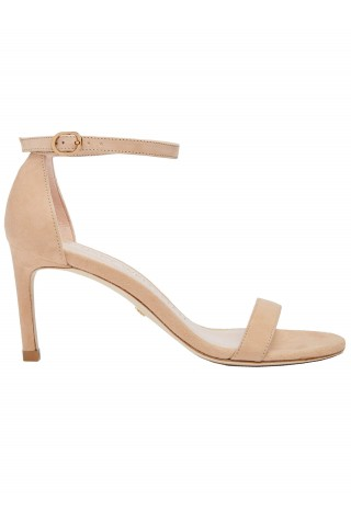 STUART WEITZMAN S2244 NUNAKEDSTR AIGHT TAUPE LEATHER SANDALS