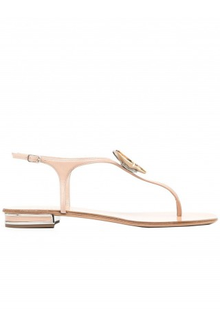 CASADEI 1N176S010MMINOR2801 NUDE LEATHER FLAT SANDALS