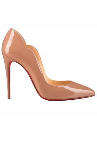CHRISTIAN LOUBOUTIN 1190911 PK1A HOT CHIC 100 NUDE PATENT LEATHER PUMPS