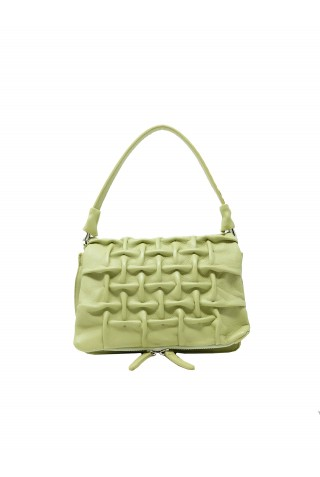 REPTILE'S HOUSE H585V76914 GRATA GREEN LEATHER BAGS