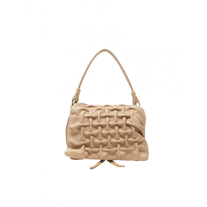 REPTILE'S HOUSE H585V76594 GRATA NUDE LEATHER BAGS