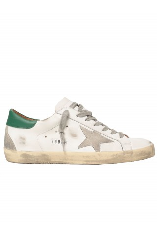 GOLDEN GOOSE GWF00102.F002180.10802 WHITE LEATHER SUPERSTAR SNEAKERS
