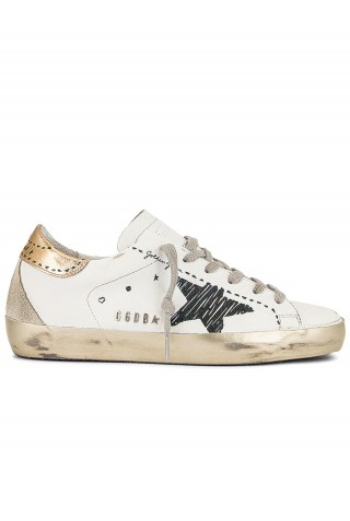 GOLDEN GOOSE GWF00102.F002028.10750 WHITE LEATHER SUPERSTAR SNEAKERS