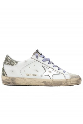 GOLDEN GOOSE GWF00102.F001620.10636 WHITE LEATHER SUPERSTAR SNEAKERS