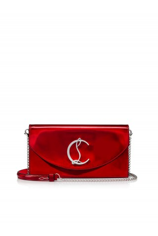 CHRISTIAN LOUBOUTIN 3215136 R294 METAL RED PATENT LOUBI54 CLUTCH BAG